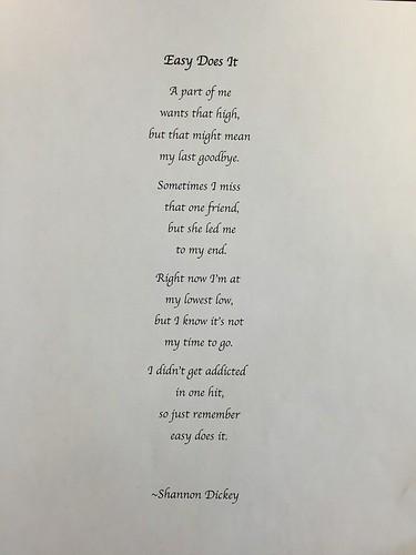 Shannon Poem drug rehab art therapy