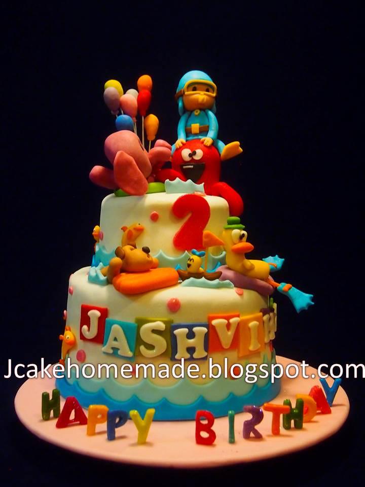 Pocoyo Birthday Cake Happy 2nd Birthday Jashviha Thanks U Flickr