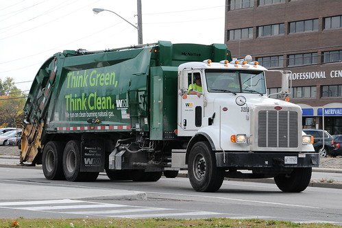 Wm 312019 Peterbilt Tandem Axle Cng Garbage Truck With A M