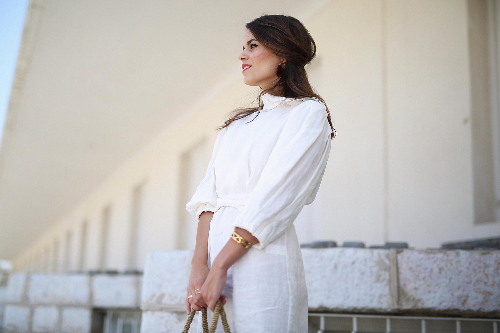 jessie chanes seams for a desire zara vestido lino capazo rafia-5