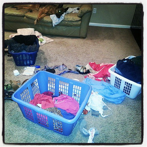 Oh my laundry!! The not so fun part of travelling and I have already started two loads. | by Jenniffier