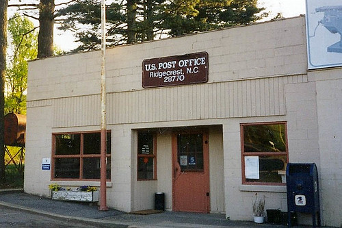 Ridgecrest, NC post office | by PMCC Post Office Photos