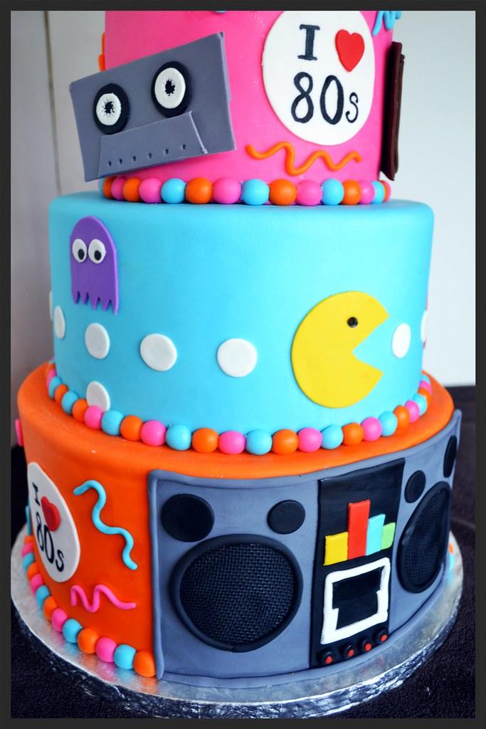 80s Themed Birthday Cake