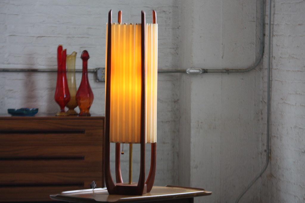 Exceptional ... Wicked Danish Mid Century Modern Teak Table Lamp (1960s) | By  Kennyk@k2modern