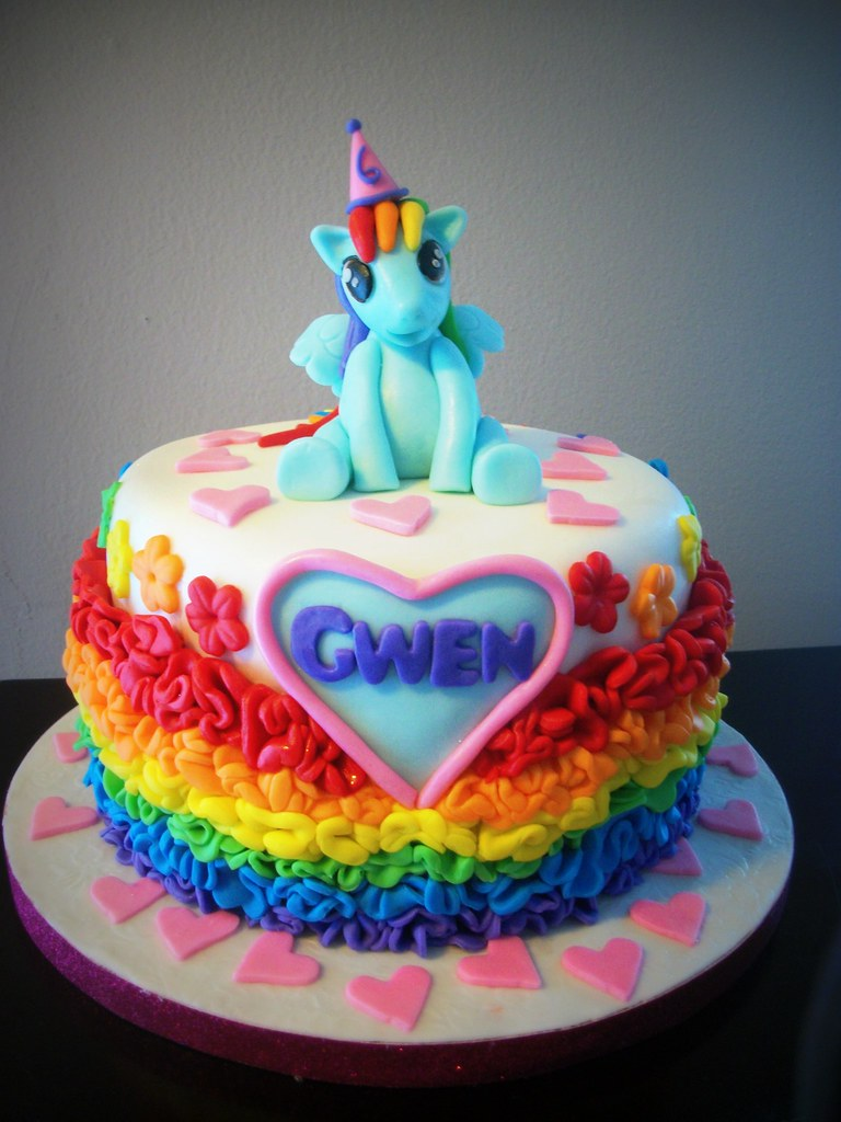 My Little Pony birthday cake 22014 by Everett Edibles loc Flickr