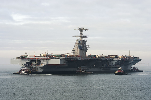 Launch of Gerald R. Ford (CVN 78)
