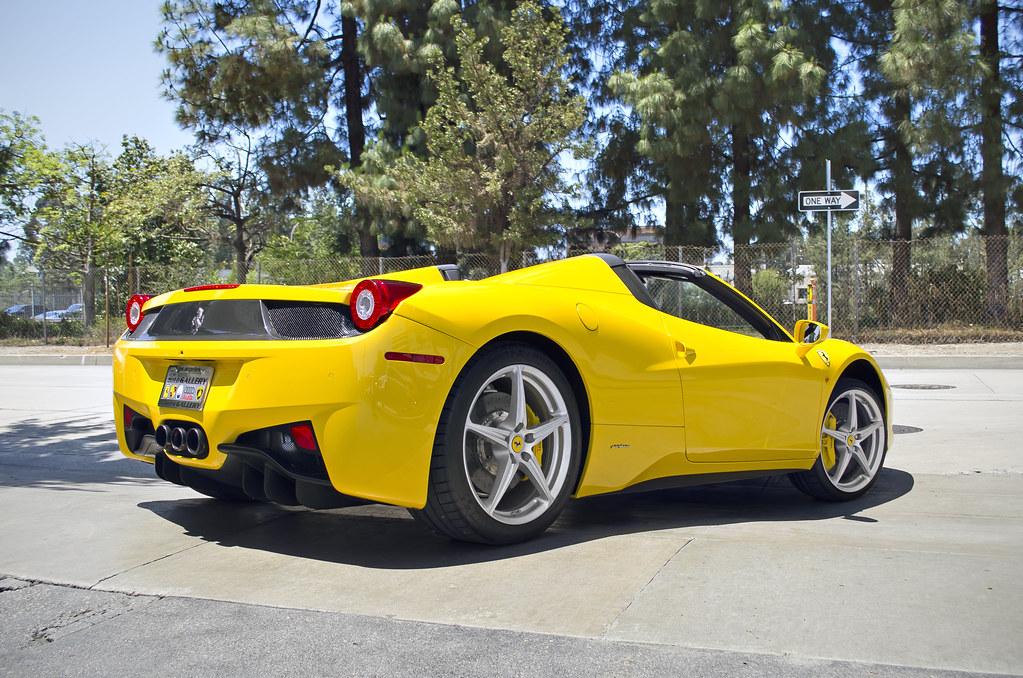 yellow ferrari 458 italia spider yellow ferrari 458 italia flickr