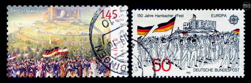 Briefmarken 175 150 Jahre Hambacher Fest Deutschland De Flickr