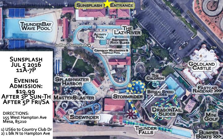 Golfland Sunsplash Map, Mesa, AZ 720 x 449 | Golfland/Sunspl… | Flickr