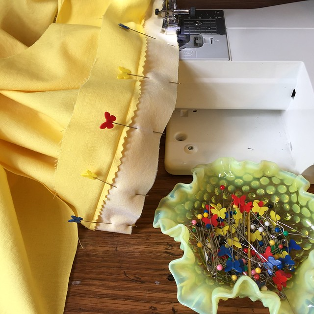 Sewing in Yellow