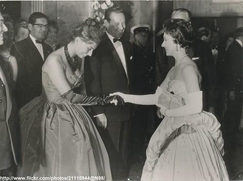 Princess meets Sophia Loren | DATE:May 29 1958 D:Princess ...