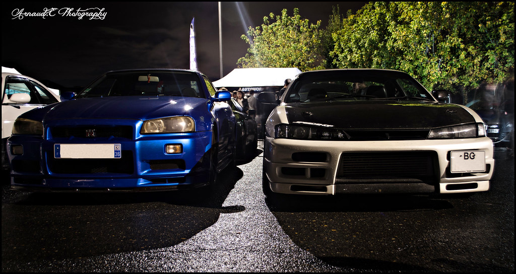 Nissan S14a Kouki Skyline R34 Gtr Gtr Night 25102013 Flickr