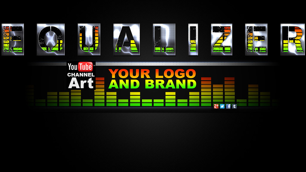 Equalizer Music YouTube Channel Art Template | Download / Cu… | Flickr