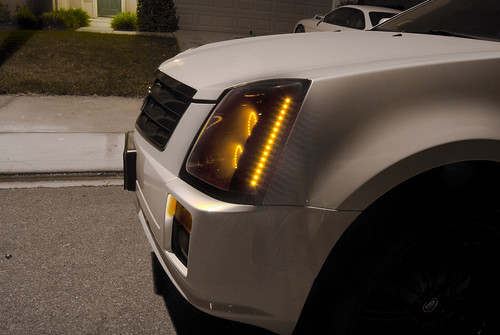 2008 Cadillac Srx Black Switchback Led Headlights This