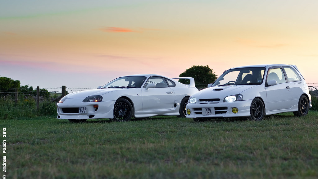 ... Toyota Glanza And Supra | By Peachyboii