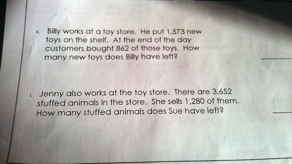 2nd grade math homework | Who is Sue? | lizzardo | Flickr