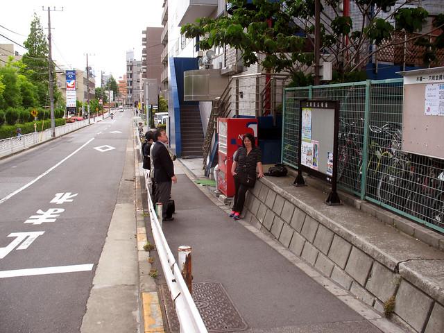 Smoking Area, Tokyo in front of Hotel Kiba