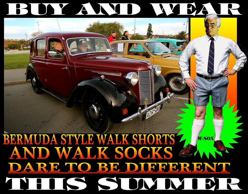 Bermuda Walk socks With Old Cars 17 | Tweed Jacket + Cavalry Twill ...