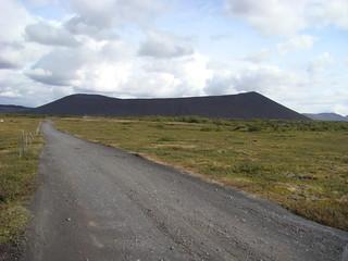 116 Weg naar explosiekrater Hverfell