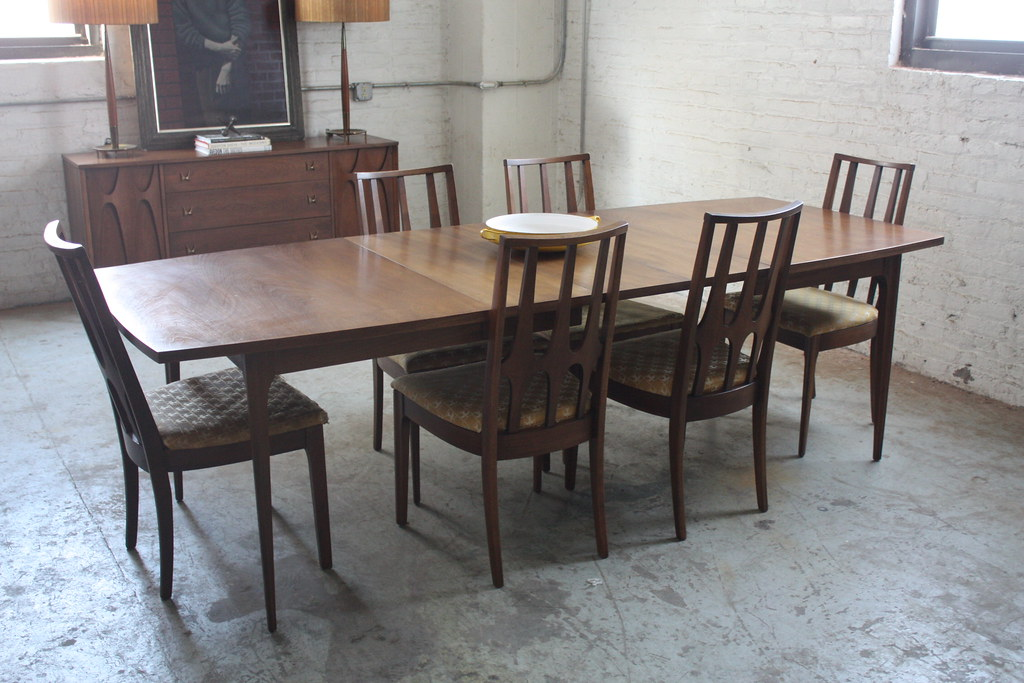 beautiful broyhill brasilia mid century dining table and chairs usa 1960s by kennyk