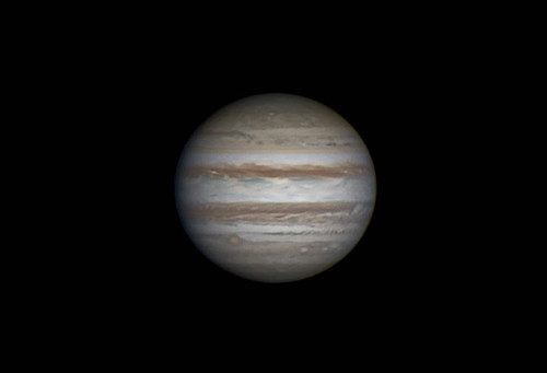 Jupiter LRGB 180214 - 20:19UT  - Winjupos processed. | by Mick Hyde