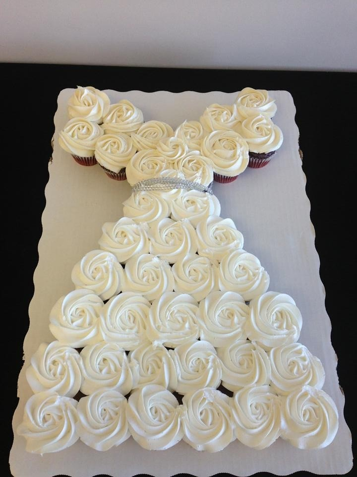 Wedding dress cupcakes for a bridal shower | Lily\'s cakes | Flickr