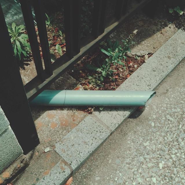 Rain drain pipe