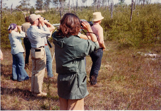 Me looking at my lifer Kirtland's Warbler | by Laura Erickson
