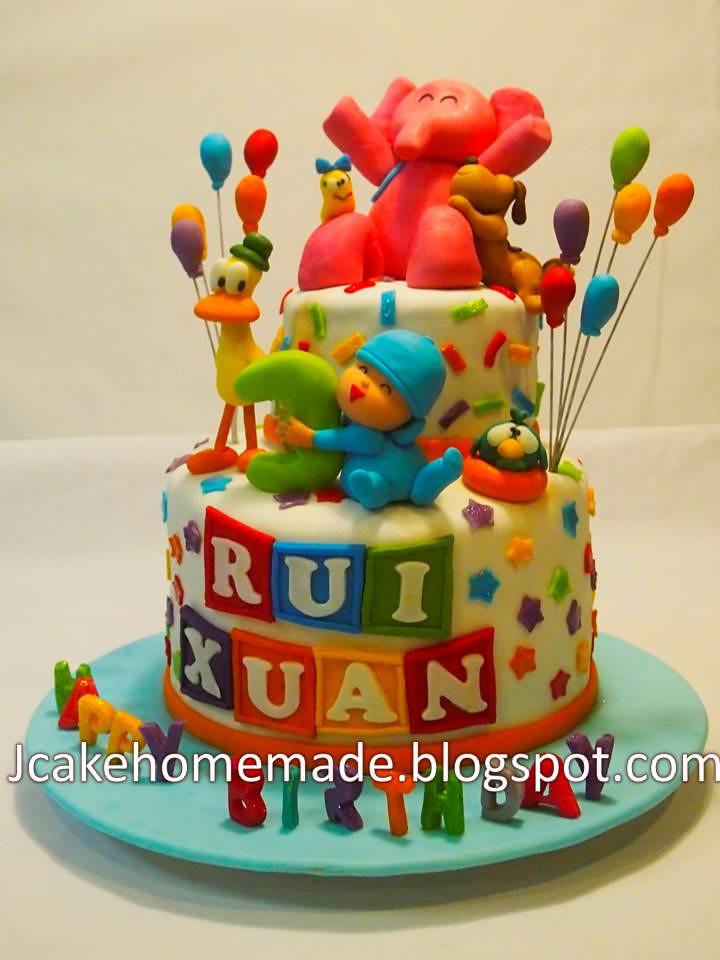 Pocoyo Birthday Cakes Happy 3rd Birthday Rui Xuan Thanks Flickr