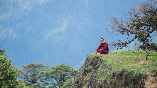 Monk at Dochula Pass | by Nagesh Kamath