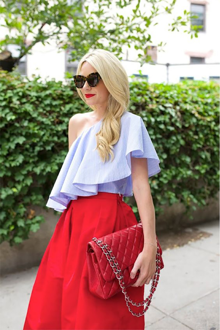 blue light top inspiration street style fashion outfit7