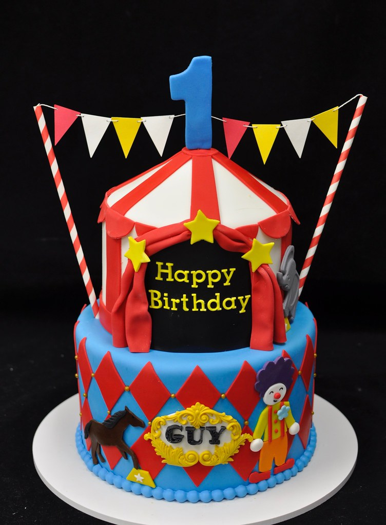 Circus First Birthday Cake Jenny Wenny Flickr