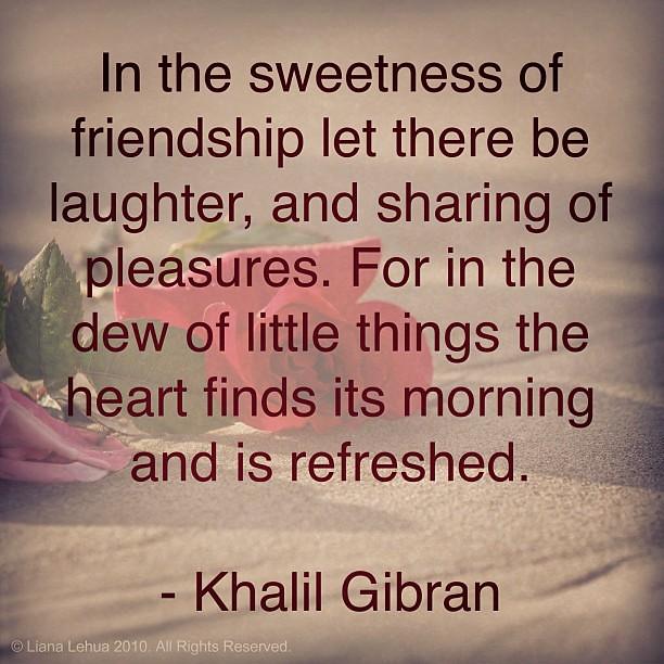 kahlil gibran on friendship
