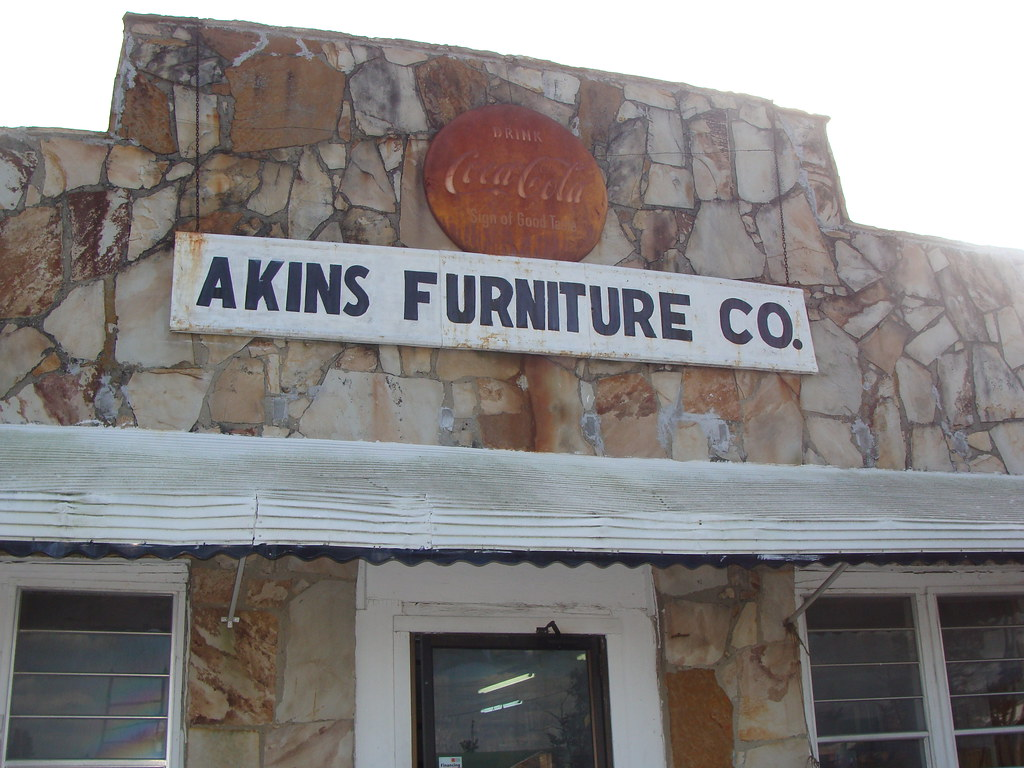 Akins Furniture Co Rusty Coca Cola Sign Dogtown Al Flickr