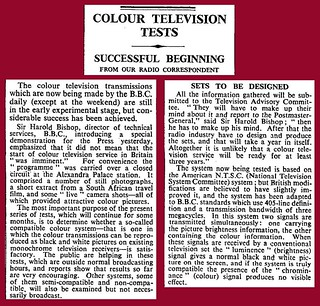 21st October 1955 - Colour television tests | by Bradford Timeline