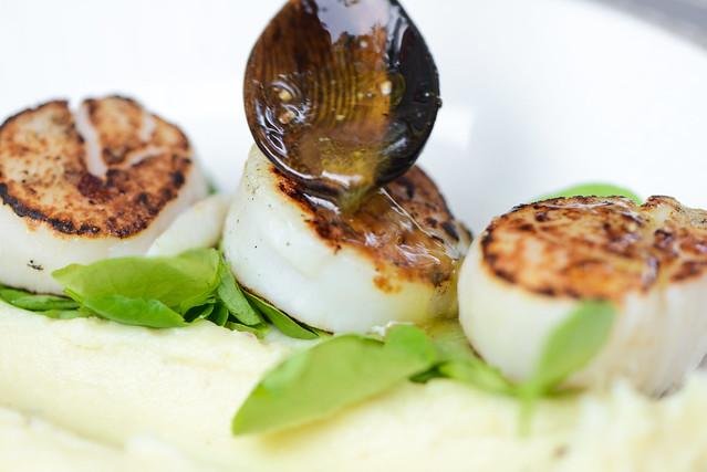 Grilled Scallops with Yuzu Vinaigrette