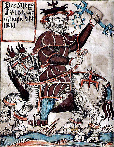 Odin Riding Sleipnir With A Four Winds Hat With A Trinity Flickr