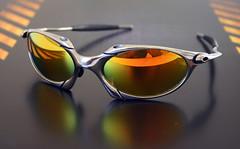 oakley romeo  oakley romeo 1 polished (custom) + fire iridium x metal