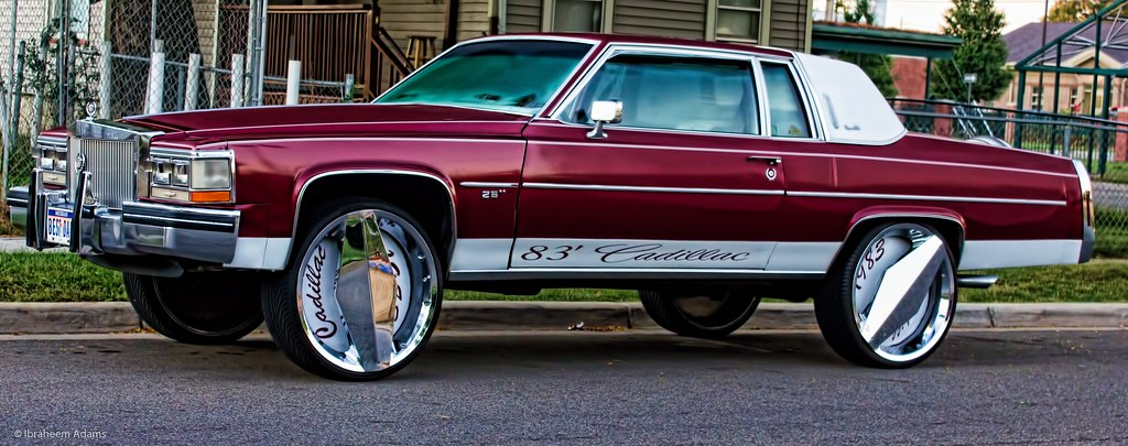 83' Cadillac parked on North Street in Kalamazoo | Kalamazoo Images