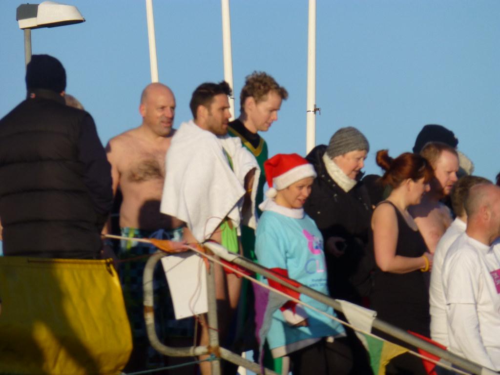 Superb ... Borat Banana Hammock Mankini   Aberdeen Lions Nippy Dippers In North  Sea At Aberdeen Beach,