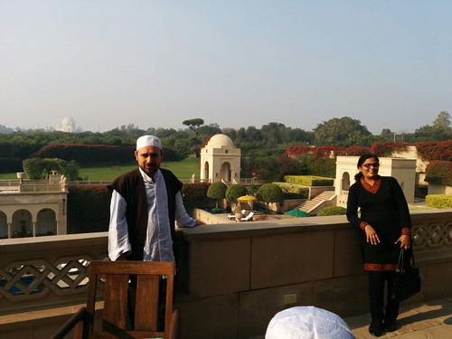 Ishaq with Taj Mahal in background | by MSNMSH
