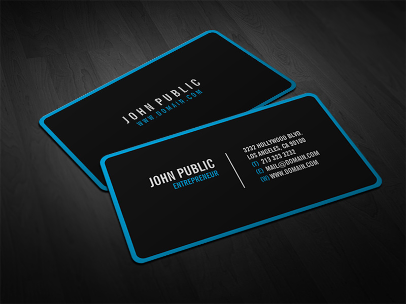Modern Black Business Cards with Rounded Corners | Modern bl… | Flickr
