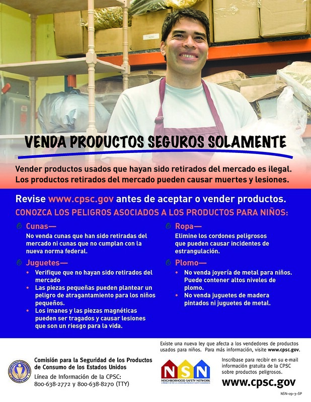 Venda productos seguros solamente