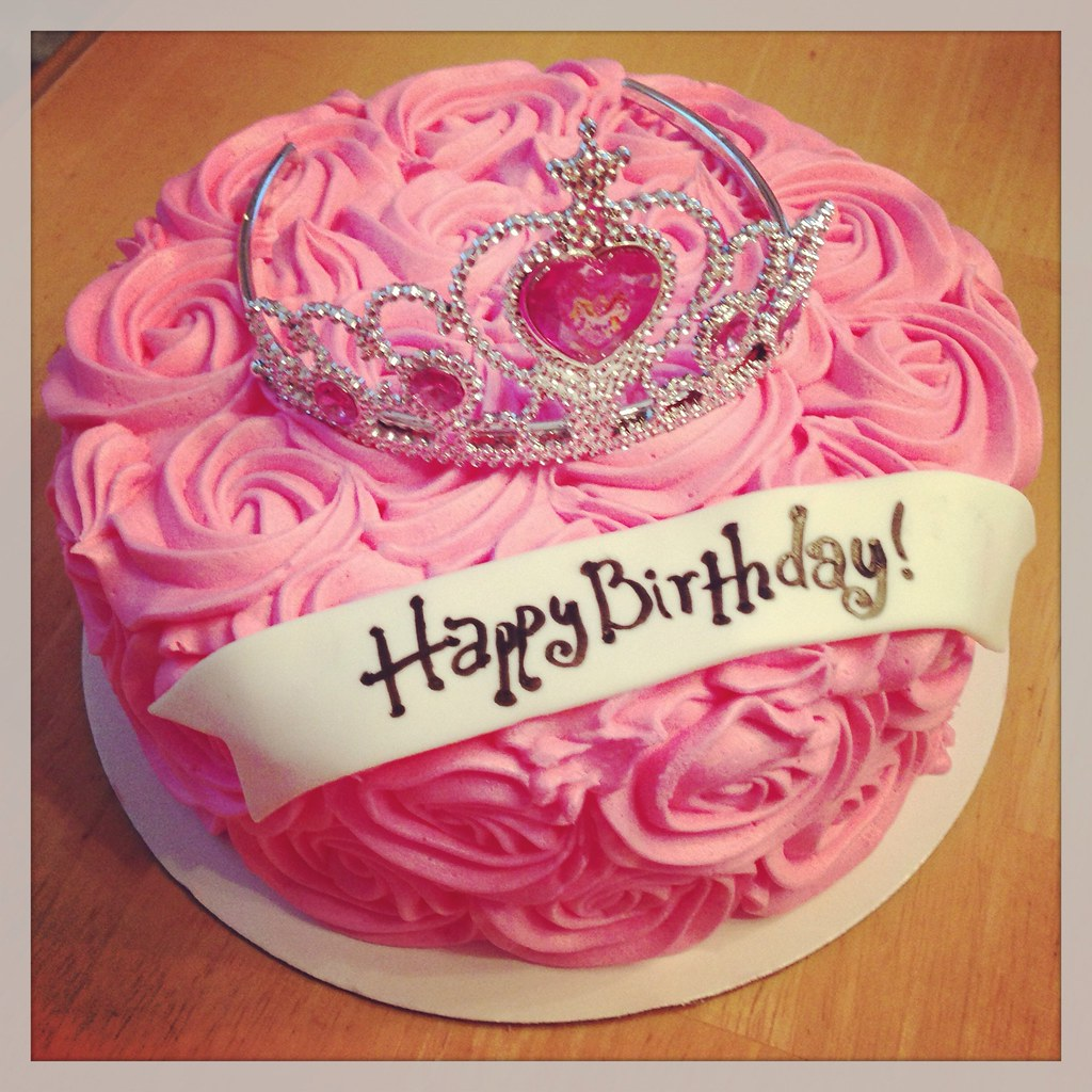 Fun Pink Princess Cake For A Special Birthday Girl Flickr