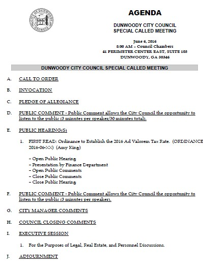 http://www.jkheneghan.com/city/meetings/2016/Jun/2016-06-06%20City%20Council%20Special%20Called%20Meeting%208am.pdf