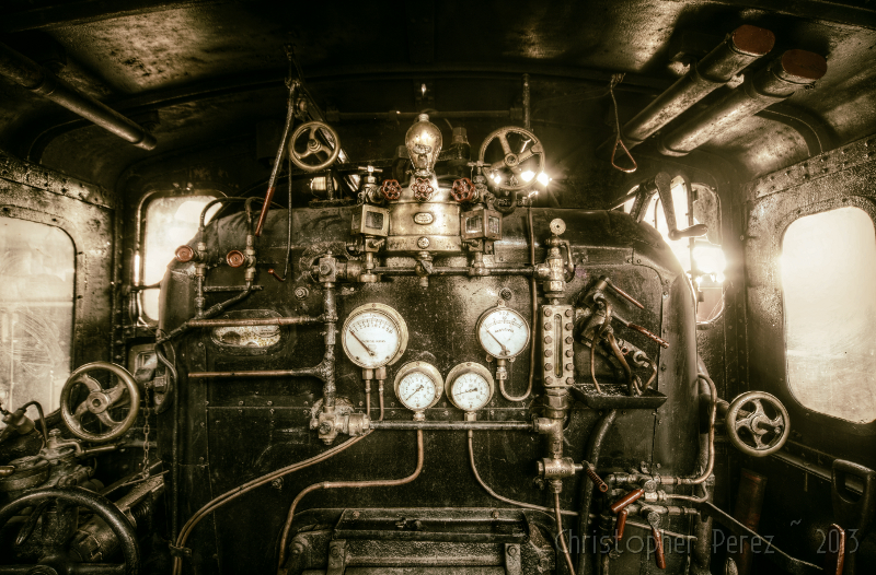 Steam Power ~ Longueville Roundhouse ~ AJECTA   There is lit