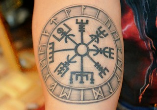 vegvisir tattoo this is my latest tattoo the symbol vegvi flickr. Black Bedroom Furniture Sets. Home Design Ideas