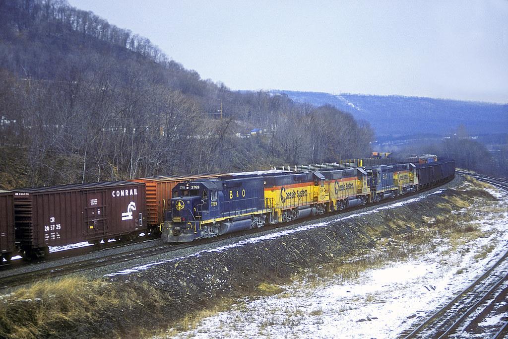 ... 1985-12-27 Chessie System Coal Train, Enola, PA | by jimkleeman