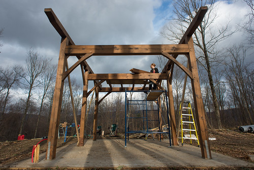 Cottage Timber Frame Raising in Progress | by goingslowly