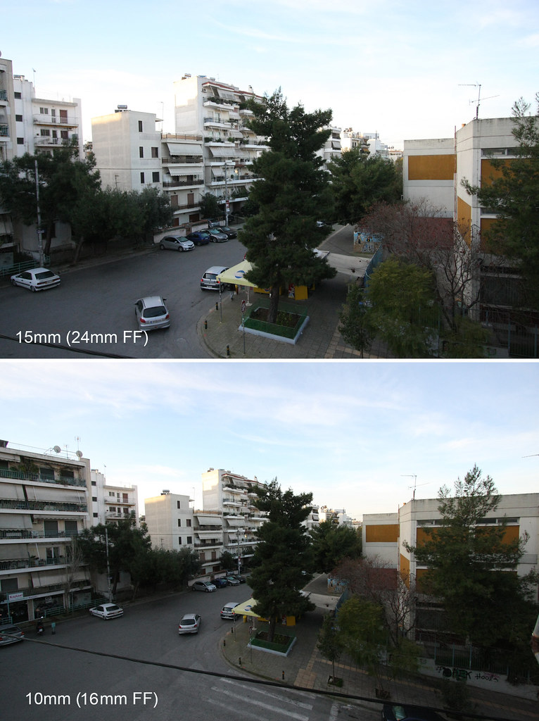10mm vs 15mm (16mm vs 24mm on full frame) | This is the diff… | Flickr